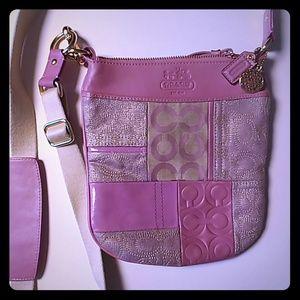 Coach Purse. Crossbody. Pink/lilac